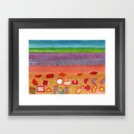 Remains on the Landscape Framed Art Print
