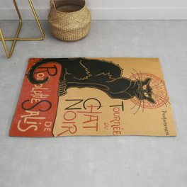 Le Chat Noir The Black Cat Poster by Théophile Steinlen Rug