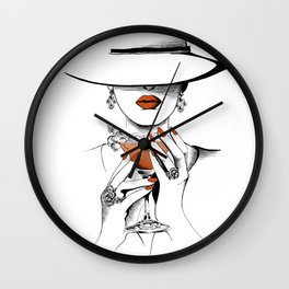 Lady In The Hat Wall Clock