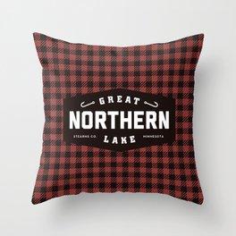 Great Northern Lake Throw Pillow
