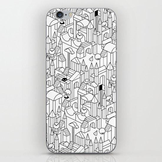 Little Escher's Building Blocks iPhone & iPod Skin