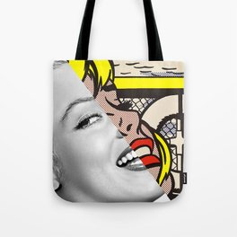 "Roy Lichtenstein's ""Sailboat Girl"" & M.M. Tote Bag"