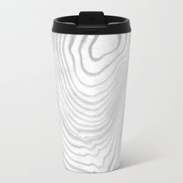 Sanyu - spilled ink abstract marble minimal topography black and white grey art Travel Mug