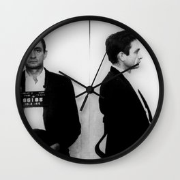 Johnny Cash Mug Shot Music lover Fan mugshot Wall Clock