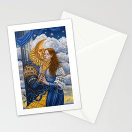 Moonman / soir de lune /  Stationery Cards