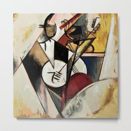 Study after Gleizes' Composition pour Jazz Metal Print