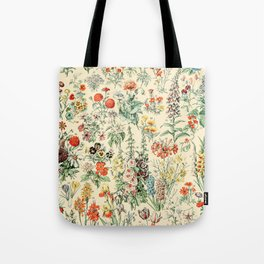 Wildflower Diagram // Fleurs II by Adolphe Millot XL 19th Century Science Textbook Artwork Tote Bag
