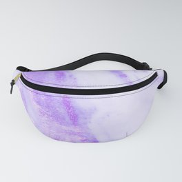 Shimmery Violet Purple Marble Metallic Fanny Pack