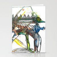 wings Stationery Cards featuring Wings by Dawn Patel Art