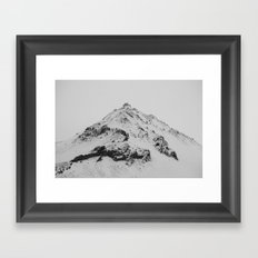 snowy icelandic mountain Framed Art Print