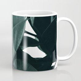 Dark Green Rubber Plant Coffee Mug