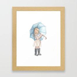 The Umbrella Girl Framed Art Print