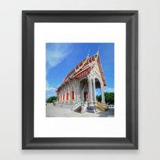 White Temple Thailand #2 Framed Art Print