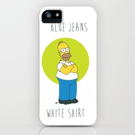 Homer S. (Blue Jeans, White Shirt) iPhone Case