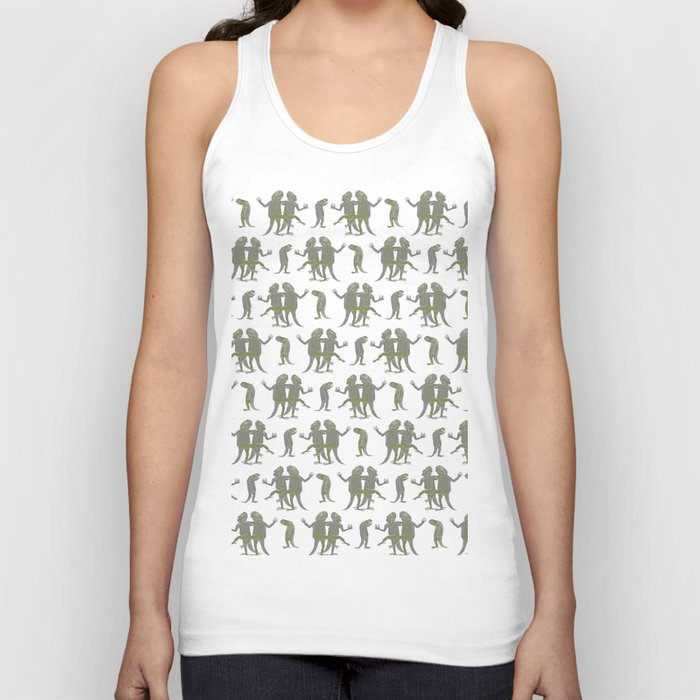 Dancing Lizards Unisex Tank Top