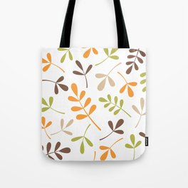 Assorted Leaf Silhouettes Retro Colors Tote Bag