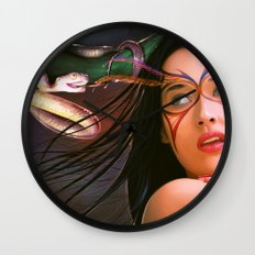 Green Cristals Wall Clock