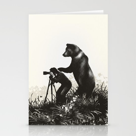 The Bear Encounter II Stationery Cards