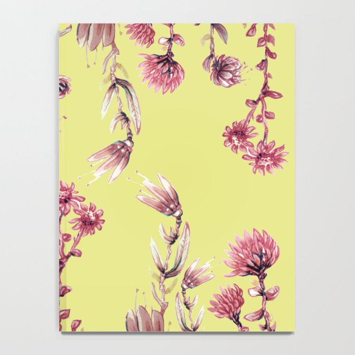 pink water color Garden Notebook
