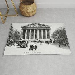 Vintage antique Paris Rue Royale Madeleine church Rug