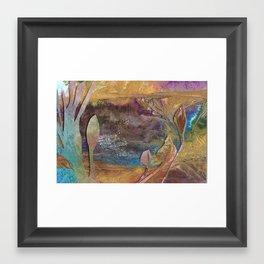 Mystic pond Framed Art Print