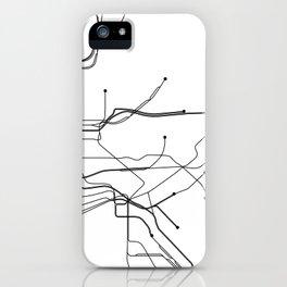 New York City White Subway Map iPhone Case