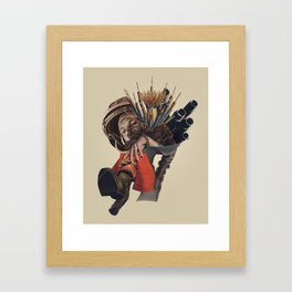 Congratulations, you caught the bouquet.... Framed Art Print