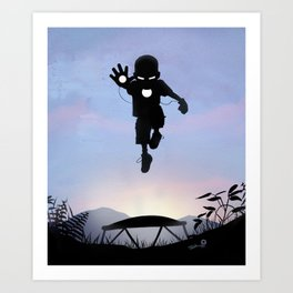 Iron Kid Art Print