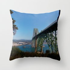 Cross Over Into Paradise Throw Pillow