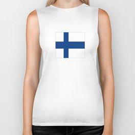 Flag of Finland 1 -finnish, Suomi, Sami,Finn,Helsinki,Tampere Biker Tank