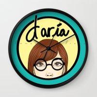 daria Wall Clocks featuring Daria by Emmanuella Draws