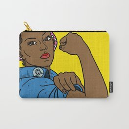 Black Rosie the Riveter Carry-All Pouch