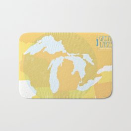 The GREAT LAKES of NORTH AMERICA Bath Mat