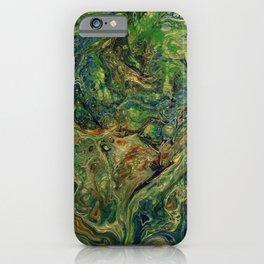 Blue Green Gold Copper Lava Flow iPhone Case