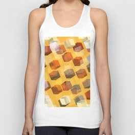 transparent cubes Unisex Tank Top