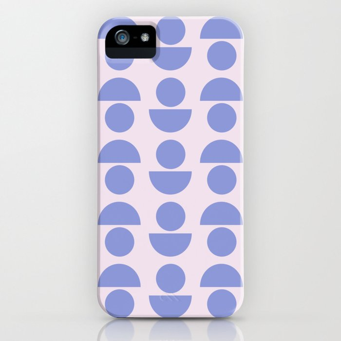 Shapes in Periwinkle iPhone Case