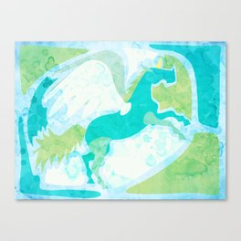Winged Unicorn Canvas Print