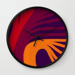 Triplets - Violet Purple Wall Clock