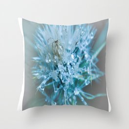 blue faery wand Throw Pillow