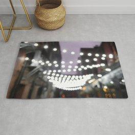 Scottish Photography Series (Vectorized)- Glasgow City Lights Rug