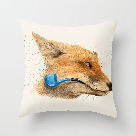 Fox V Throw Pillow