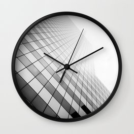 Grid Towards the Sky. Wall Clock