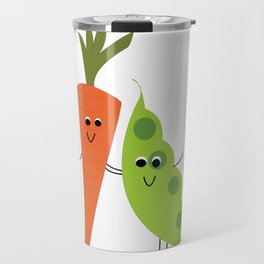 we go together like peas and carrots Travel Mug
