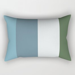 Parable to Behr Blueprint Color of the Year and Accent Colors Vertical Stripes 11 Rectangular Pillow