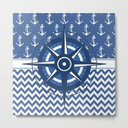 Captain's Compass Metal Print