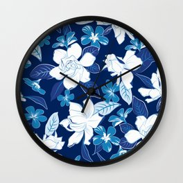 Jazmín Blue Wall Clock