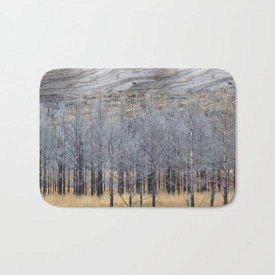 Wood on wood Bath Mat
