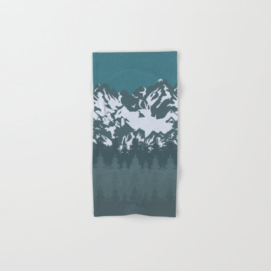 Trees and Mountains Hand & Bath Towel