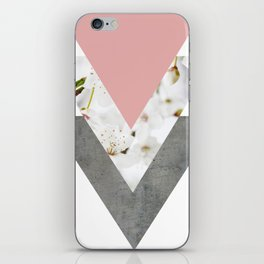 Blossoms Arrows Collage iPhone Skin