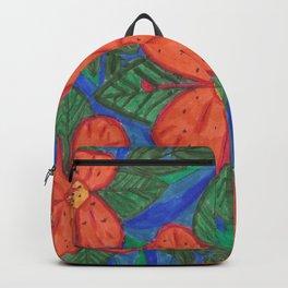 Luau Flower Print Backpack